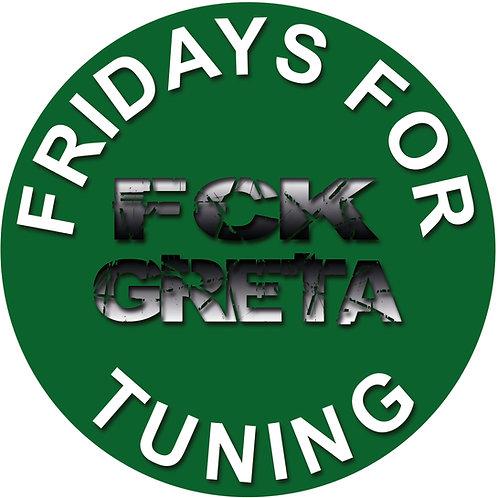 FRIDAYs FOR TUNING Aufkleber FCK Greta  D186