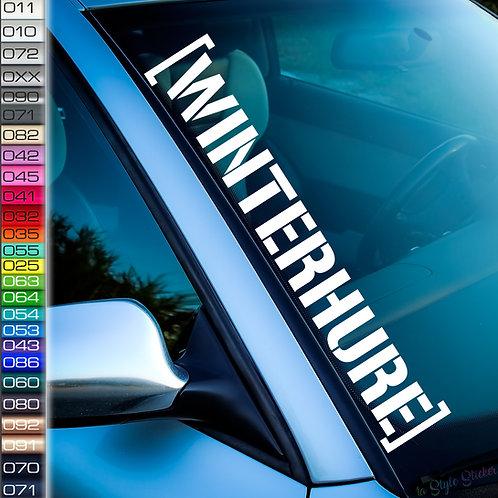 Winterhure Schnee Snow Frontscheibenaufkleber Tuningsticker Autoaufkleber Uni Farben Sticker Tuningaufkleber Winterauto