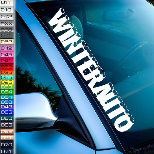 Winterauto Winteraufkleber Frontscheibenaufkleber Tuningsticker Autoaufkleber Uni Farben Sticker Tuningaufkleber Tuningszene