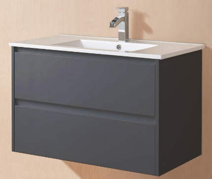 Yolo Matte Black 900mm Wall Hung Vanity
