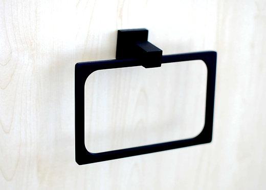 Block Black Towel Ring