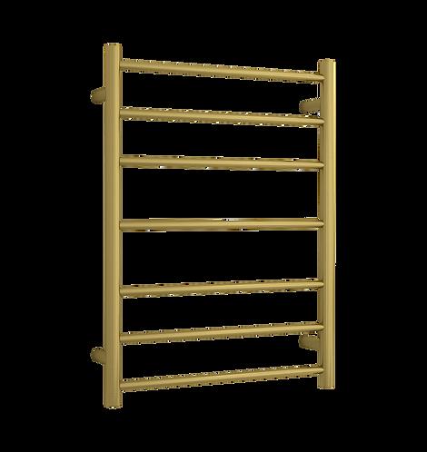 Rondo Brushed Brass 7 bar Heated Towel Ladder