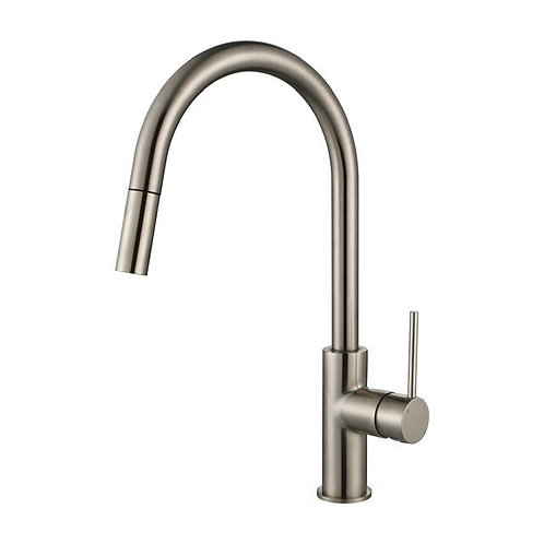 Star Mini Brushed Nickel Pull Out Kitchen Mixer