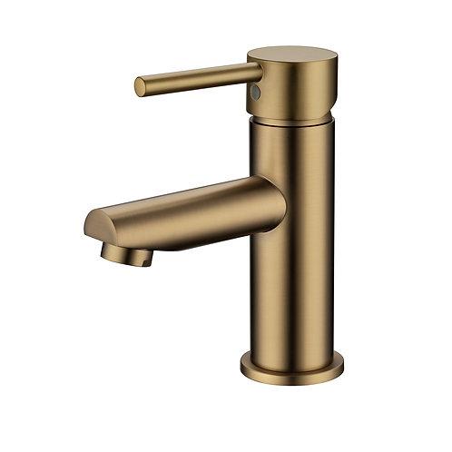 Rondo Brushed Brass Basin Mixer