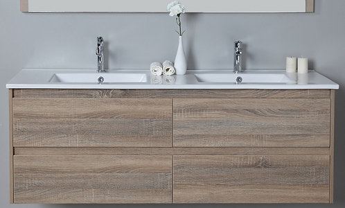 Leo 1500mm Double Bowl Wall Hung Vanity