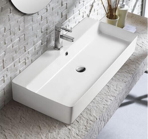 Reagan Rectangular Above Counter Ceramic Basin