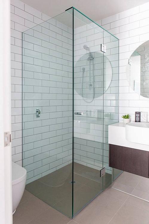 Frameless Shower Screen & Return