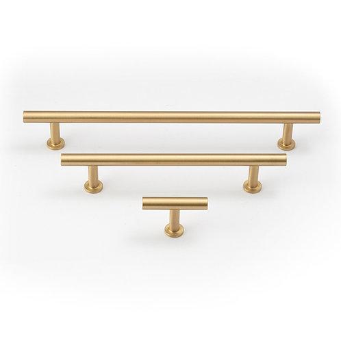 Stirling Brushed Brass Cabinet Pull
