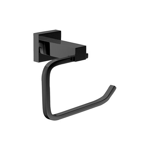 Block Black Toilet Roll Holder