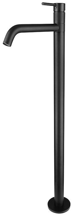 Rondo CURO Pin Handle Matte Black Freestanding Bath Filler