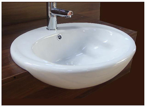 Como Semi Recessed Basin