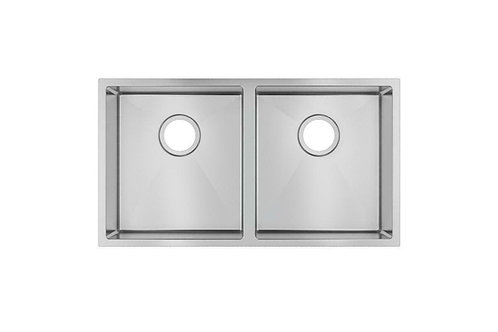Zero 820 x 457 x 230 mm Stainless Steel Undermount Double Bowl Sink