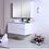Thumbnail: Snowy White Gloss 900mm Wall Hung Vanity