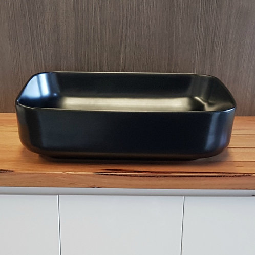 Alonso II Matte Black Above Counter Basin