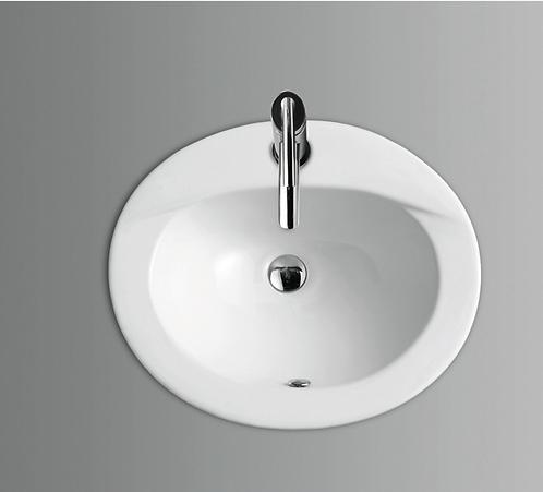 Oval Ceramic Inset Vanity Basin