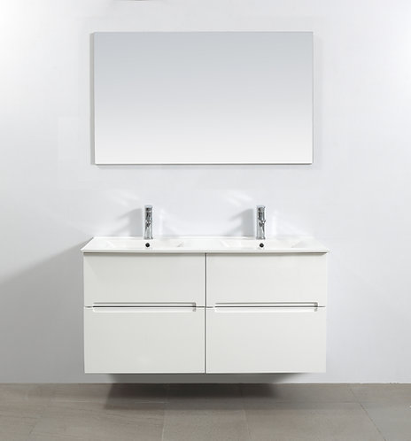 Bella 1200mm Double Bowl Wall Hung Vanity