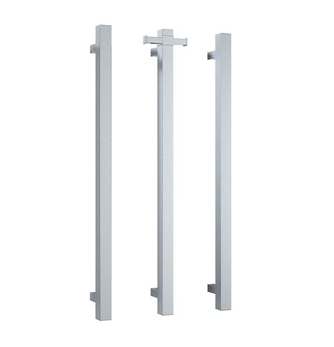 Thermorail Straight Square Vertical Single Bar Heated Towel Rail