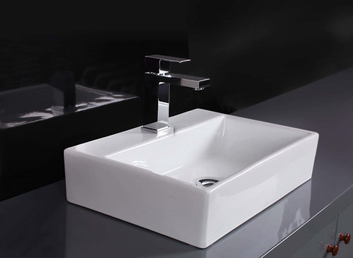 Acqua Rectangular Above Counter Ceramic Basin