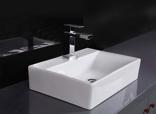 Acqua Rectangular Above Counter Ceramic Basin