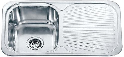 Dante Stainless Steel Single Bowl & Drainer Kitchen Sink