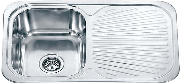 Dante Stainless Steel Single Bowl & Drainer Kitchen Sink