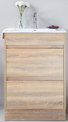 Leo 600mm Timber Grain Vanity