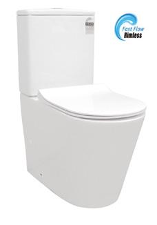 Ecco Rimless Ceramic Wall Faced Toilet Suite