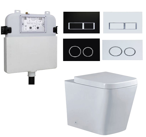 Blok Wall Faced Toilet Pan with R&T Concealed Cistern