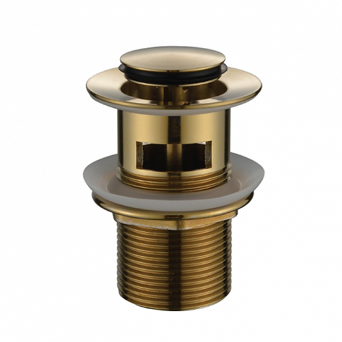 32mm Brushed Bronze pop up waste with overflow