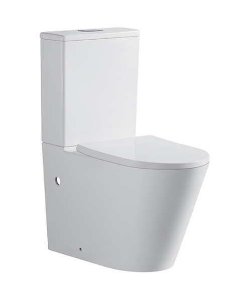 Rondo Short Projection Rimless Ceramic Wall Faced Toilet Suite