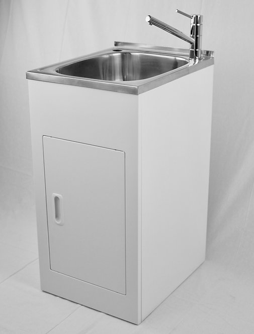 35ltr Stainless Steel Compact Laundry Tub & Cabinet