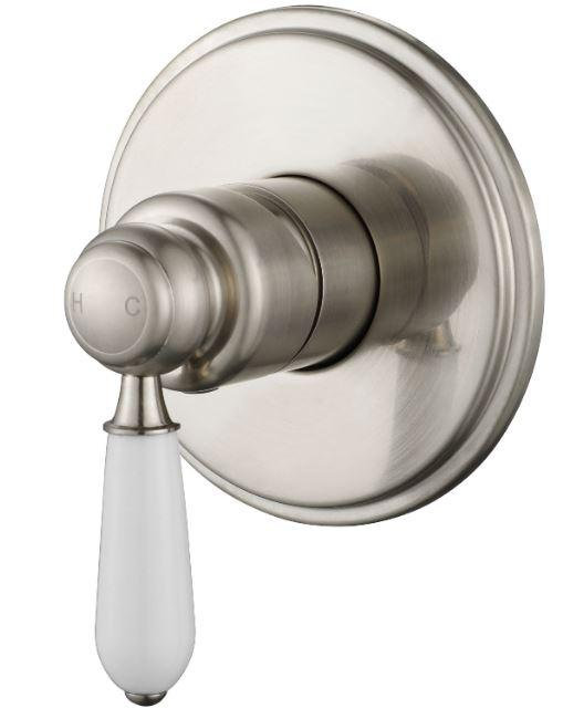 Heritage English Brushed Nickel Single Lever Wall Mixer