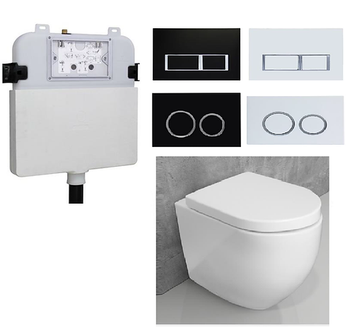 Nexus Wall Faced Toilet Pan with R&T Concealed Cistern