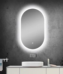 Luna LED Oval Mirror