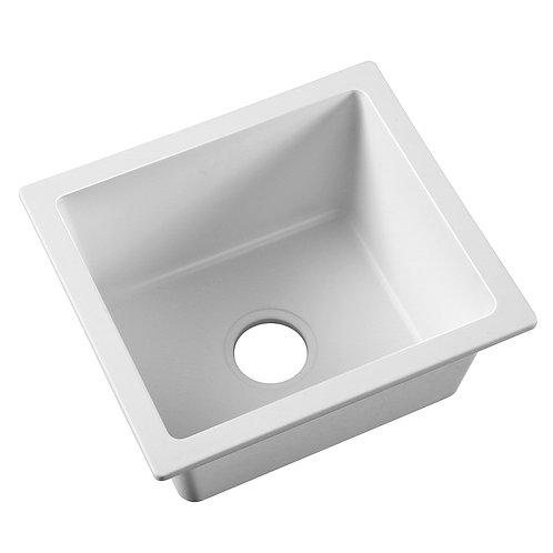 White Granite Quartz Square Bowl Sink