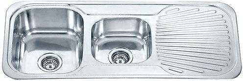 Dante Stainless Steel 1 3/4 Bowl Kitchen Sink