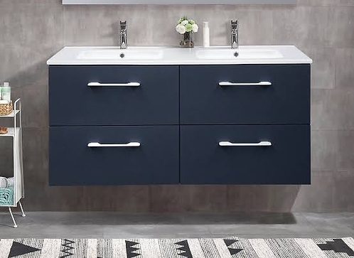 Scuro Navy 1200mm Double Bowl Wall Hung Vanity