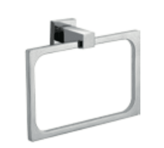 Block Chrome Square Towel Ring