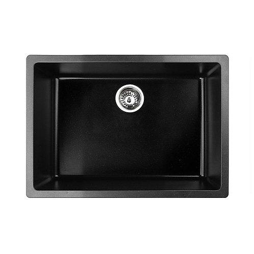 Black Granite Quartz Large Single Bowl Sink