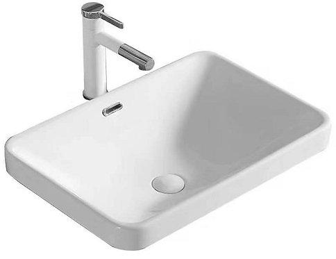 Blok Rectangular Ceramic Semi Inset Vanity Basin