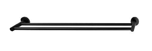 Rondo Black Double Towel Rail 750mm