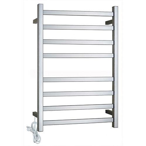 Block Chrome 8 bar Heated Towel Ladder