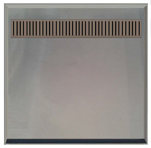 895x895 SMC Tile Over Shower Tray with Channel