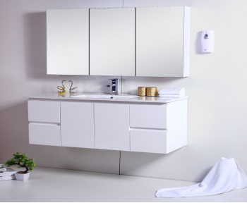 Snowy White Gloss 1200mm Wall Hung Vanity
