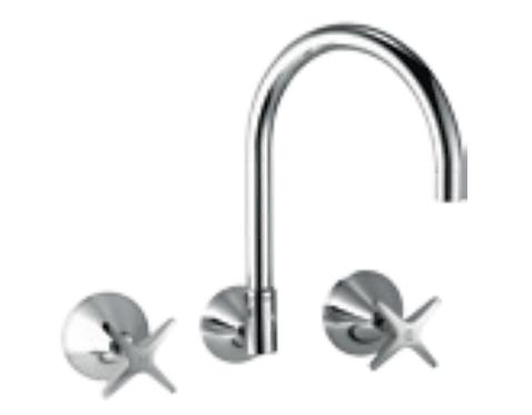 SEASTAR Wall Sink/Laundry Set Chrome