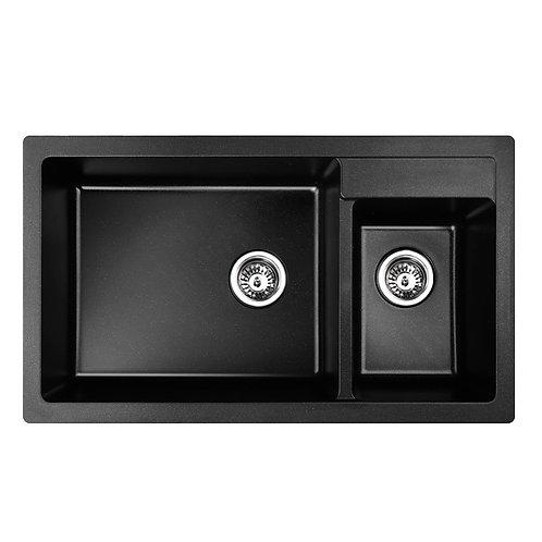 Black Granite Quartz 1 1/2 Bowl Sink