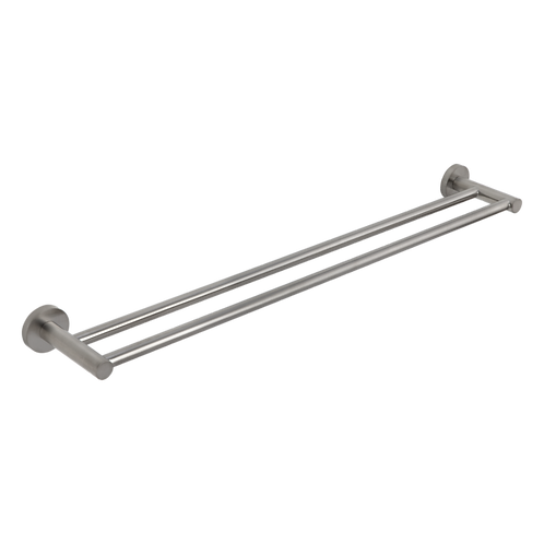 Rondo Brushed Nickel Double Towel Rail 750mm