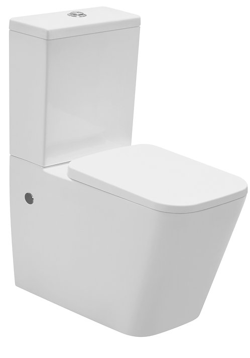 Blok Rimless Ceramic Wall Faced Toilet Suite