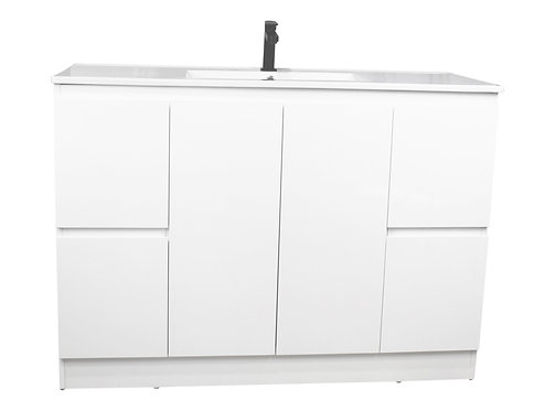 Snowy White Gloss 1200mm Vanity