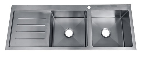 Impact Stainless Steel Flushmount 1 3/4 Bowl & Drainer Sink